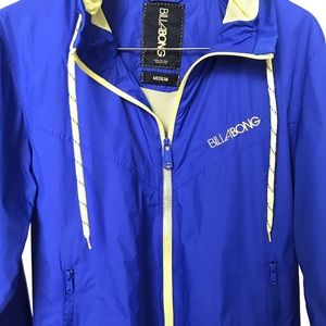 Old School Billabong Windbreaker Med Blue /Yellow